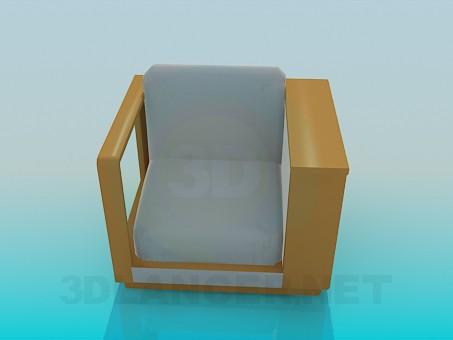 3d моделирование Кресло с полочкой модель скачать бесплатно