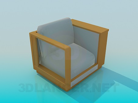 3d model Chair with shelf - preview