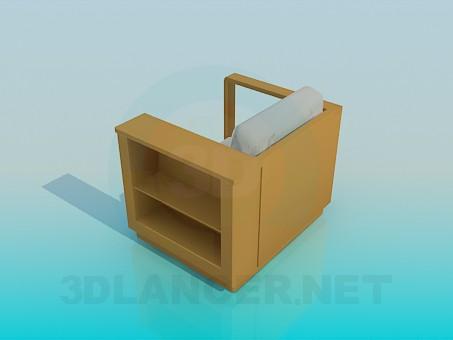 3d модель Кресло с полочкой – превью