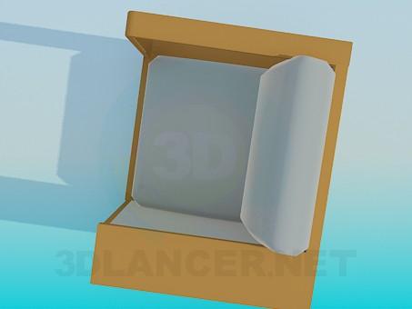 3d модель Крісло з поличкою – превью