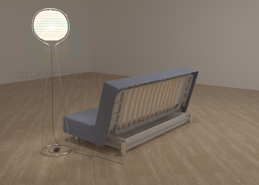 3d model IKEA sofa Bedinge - preview