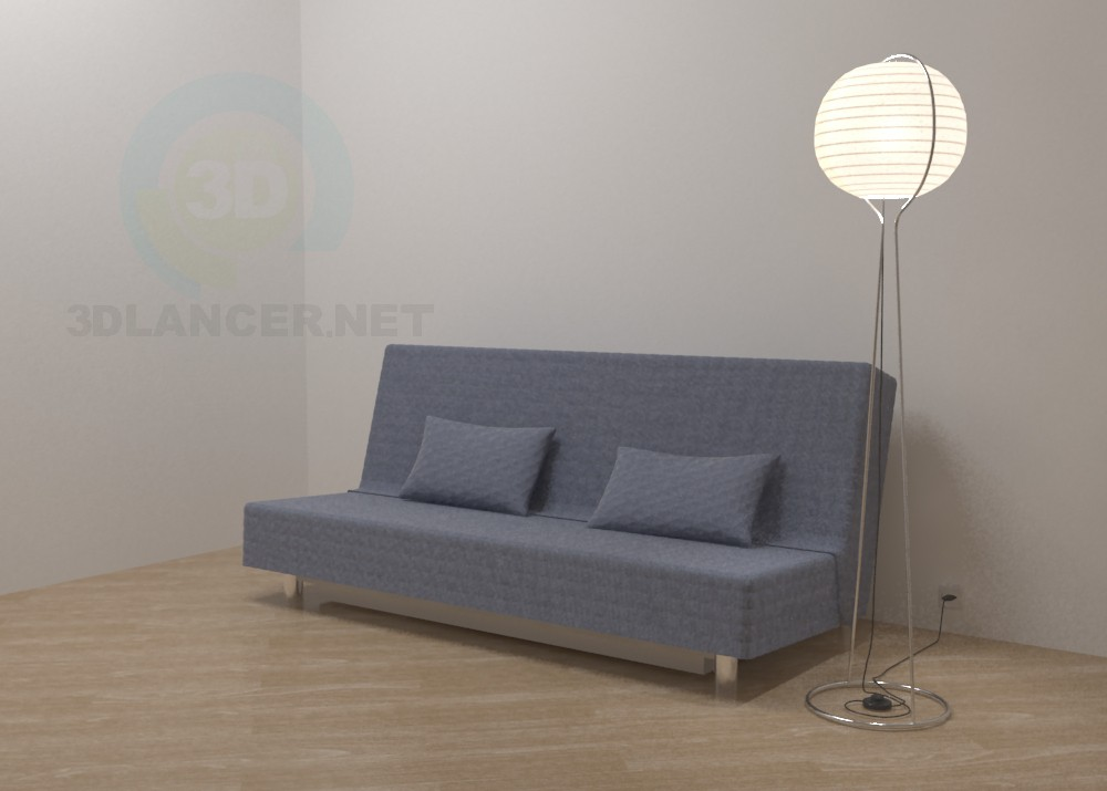 3d модель Диван Бединге IKEA – превью
