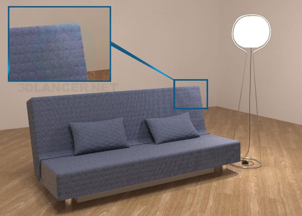 modelo 3D Sofá IKEA Bedinge - escuchar