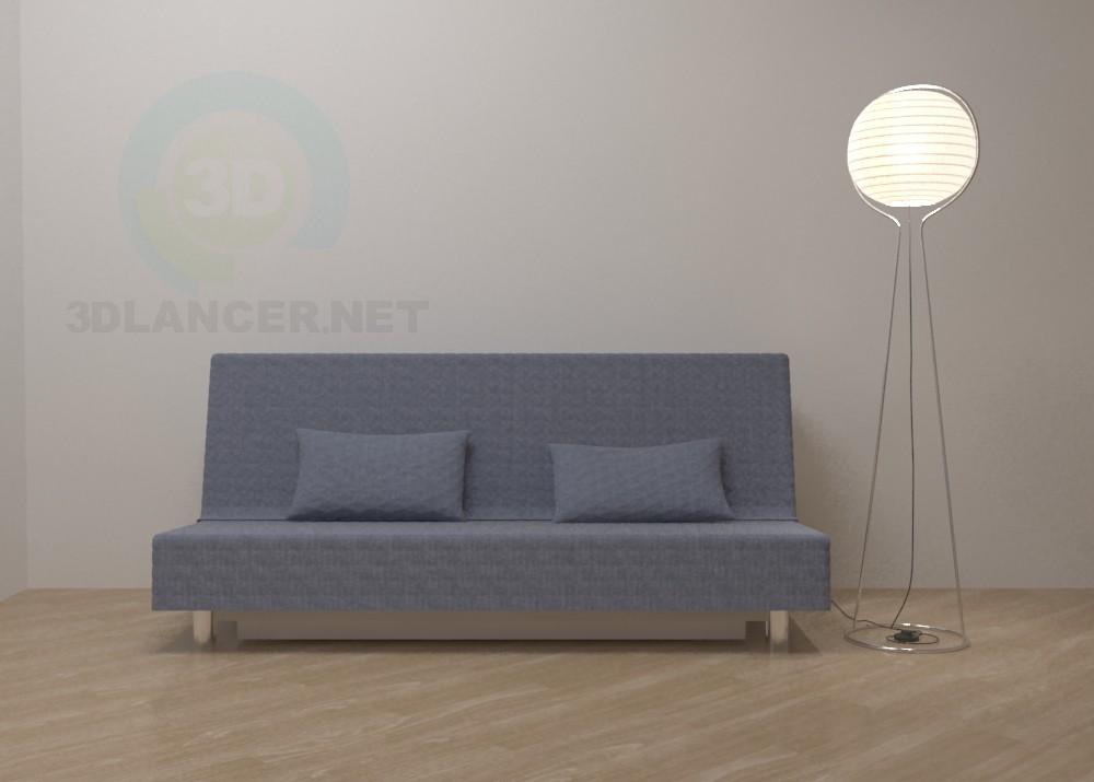3d модель Диван Бедінге IKEA – превью