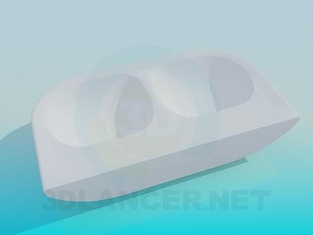 3d модель Двойная раковина – превью