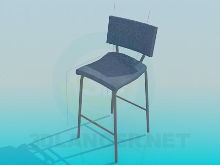 3d моделювання Високий стілець модель завантажити безкоштовно