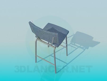 3d модель Високий стілець – превью