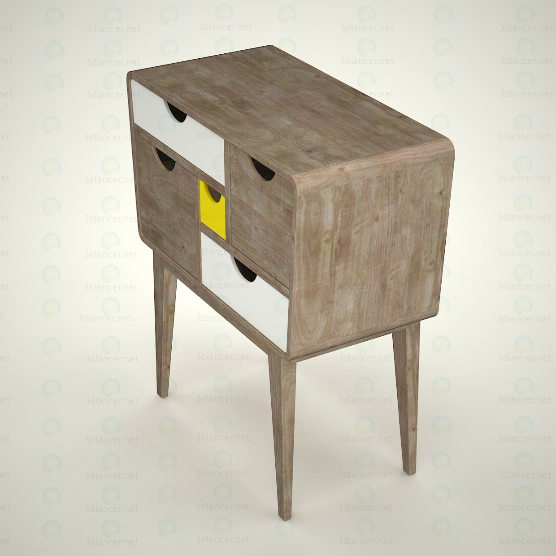3d model commode kristbjorg scandinavian style download. Black Bedroom Furniture Sets. Home Design Ideas