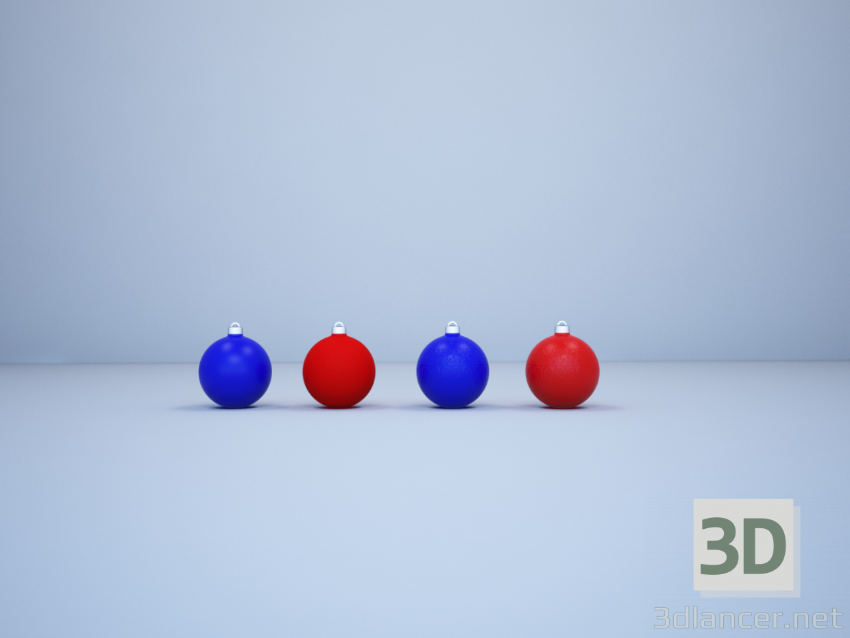 3d model christmas decoration ball - preview