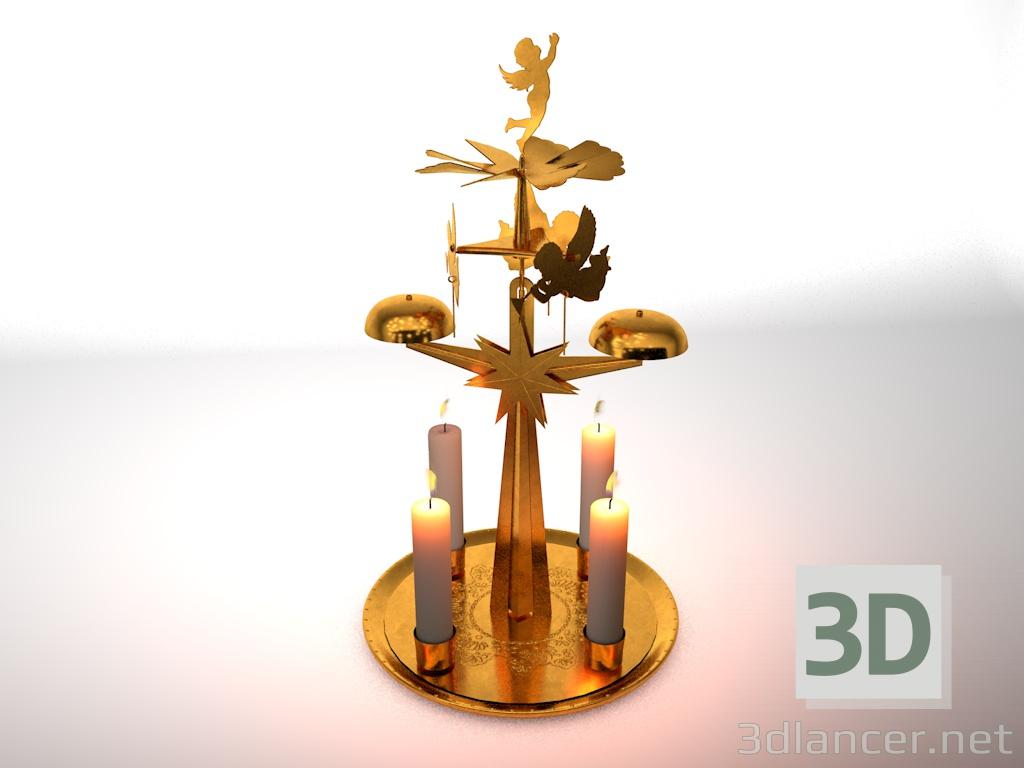 Modelo 3d Sinos De Anjo De Natal 3ds Obj C4d Gratis Baixar