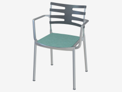 Chair with soft seat and armrests Ice