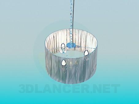3d модель Люстра с абажуром – превью