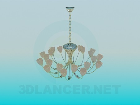 3d model Chandelier with tulips - preview
