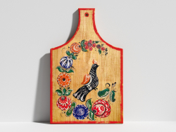 Kitchen board with painting