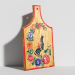 3d Kitchen board with painting model buy - render