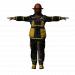 3 डी फायरमैन की मौत मॉडल खरीद - रेंडर