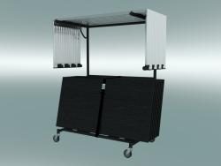 Pila di tavoli modulari su carrello (1500x750mm)