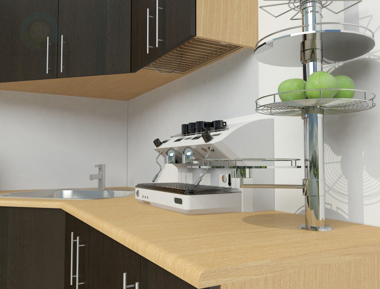 3d model simple kitchen id 9434 for Simple kitchen model