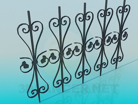 3d model Part of the fence - preview