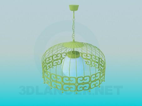 modelo 3D Lámpara con pantalla - escuchar