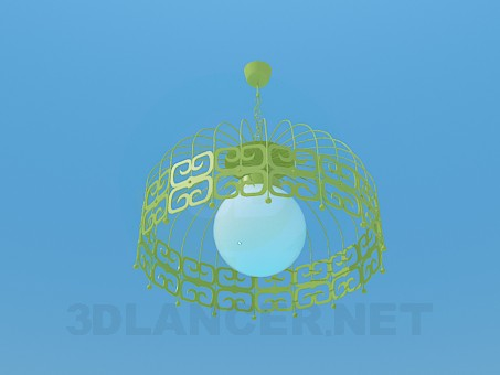 3d model Chandelier with shade - preview