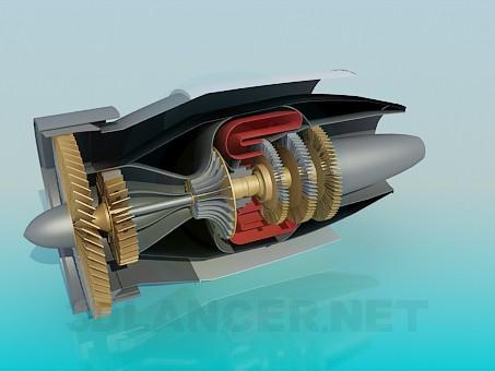 3d моделювання Турбіна літака в розрізі модель завантажити безкоштовно