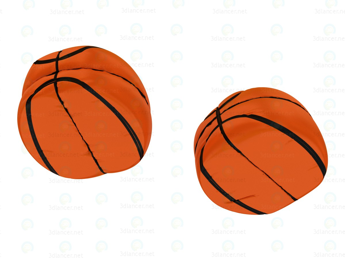 3d Кресло баскетбольный мяч модель купить - ракурс