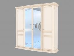 Шкаф 4-х дверный с зеркалом (2456х2337х693)