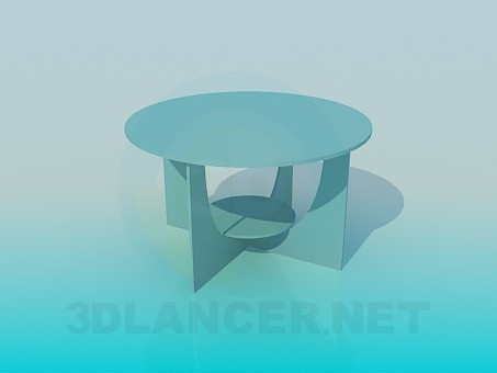 3d modeling Round table with shelf model free download