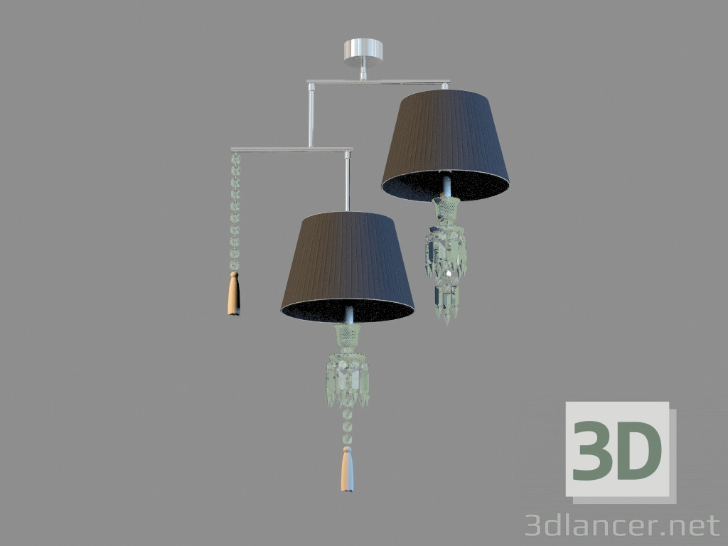3d model Люстра Lustre Torch Mobile 2L - vista previa