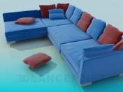 A huge corner sofa