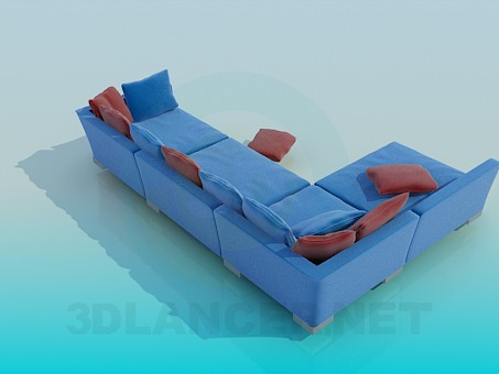 3d model A huge corner sofa - preview