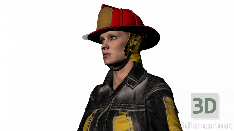 3d Элла пожарник модель купить - ракурс