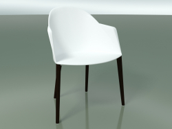 Chair 2223 (4 wooden legs, PC00001 polypropylene, wenge)