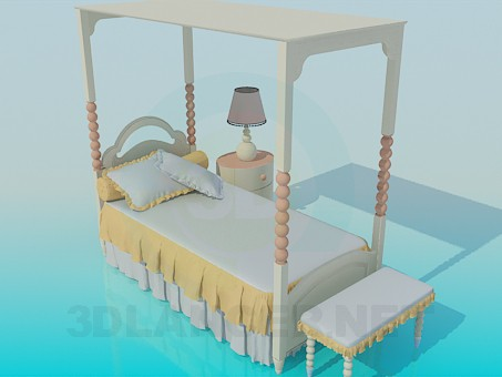 3d model Cute girl's cot - preview