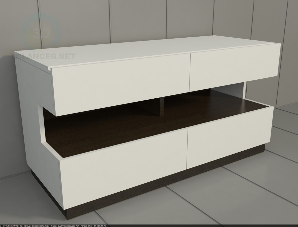 3d model TV stand - preview