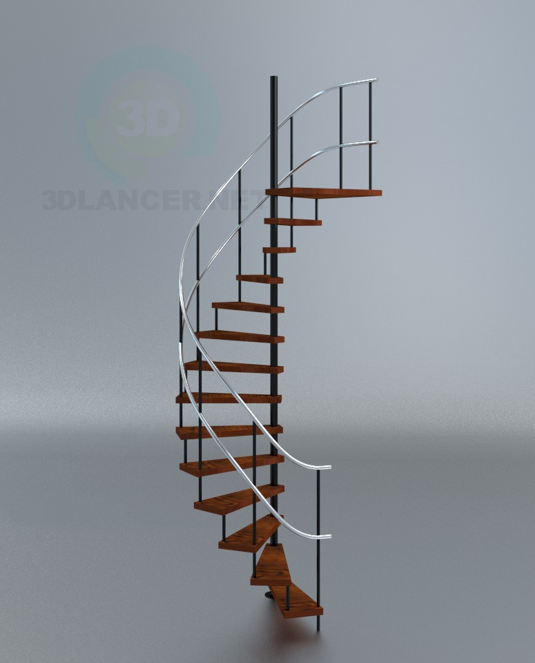 3d model Staircase spiral + plus - preview