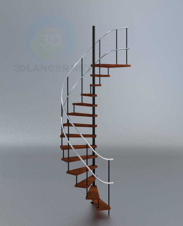 3d model Espiral de escalera + plus - vista previa