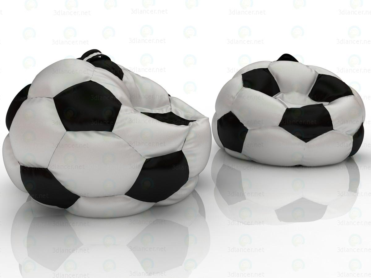 Кресло футбольный мяч 3d модель купить - рендер
