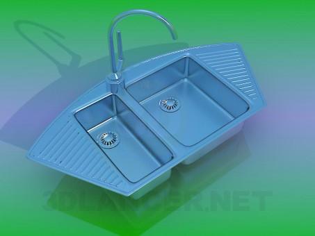 3d modeling Kitchen sink model free download