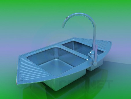3d model Kitchen sink - preview