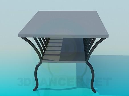 3d model Mesa para periódicos - vista previa