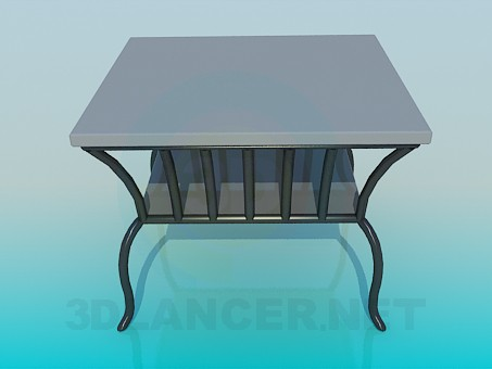 3d model Table for newspapers - preview
