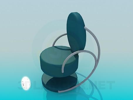 modelo 3D Silla para cafetería - escuchar