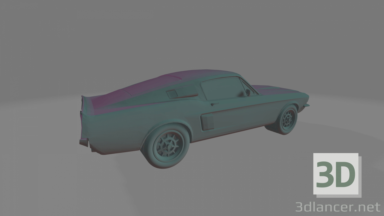3d Ford Shelby GT500 (1967) - Printable toy model buy - render