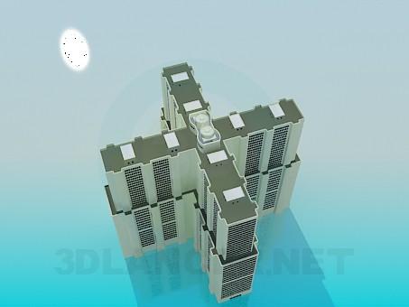 modelo 3D Un complejo de oficinas de varios pisos - escuchar