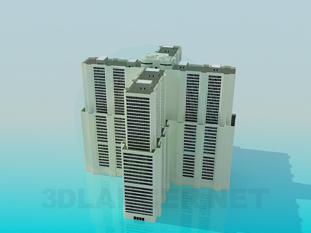 3d model A multi-storey office complex - preview