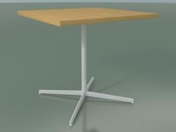 Tavolo quadrato 5566 (H 74 - 80x80 cm, Rovere naturale, V12)
