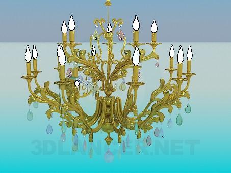 modelo 3D Candelabro con velas para el salón de fiesta - escuchar