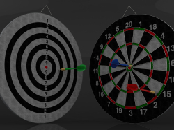 Modelo 3D Double Sided Dart Board